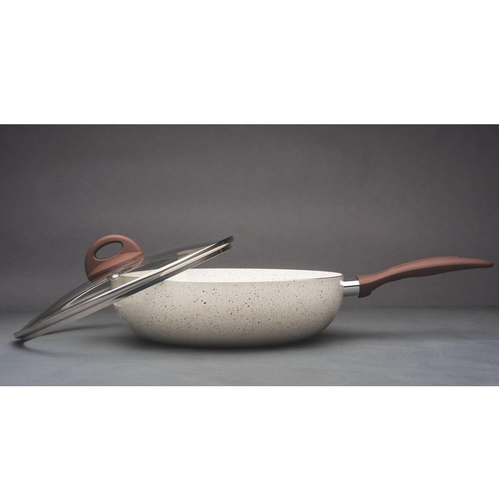 Frigideira Wok 28cm Ceramic Life Smart Plus Brinox com Tampa