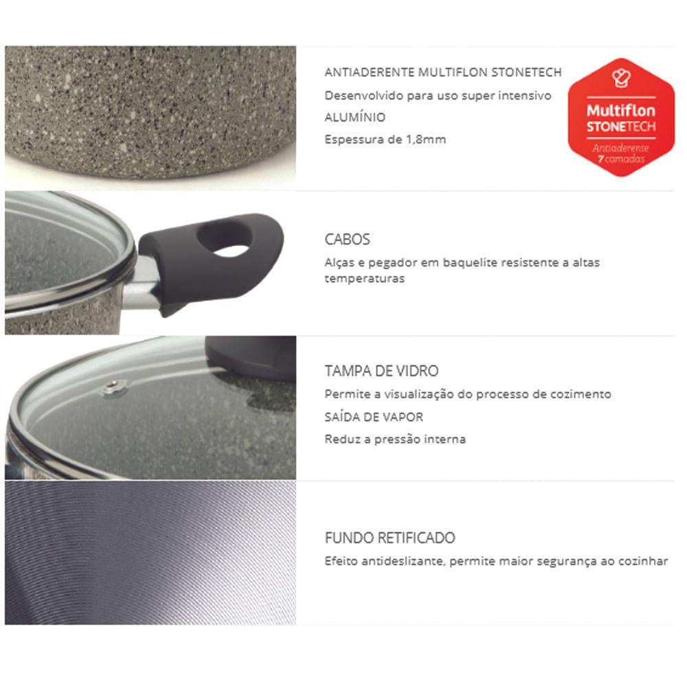 Caçarola Antiaderente Mineral 22cm Multiflon