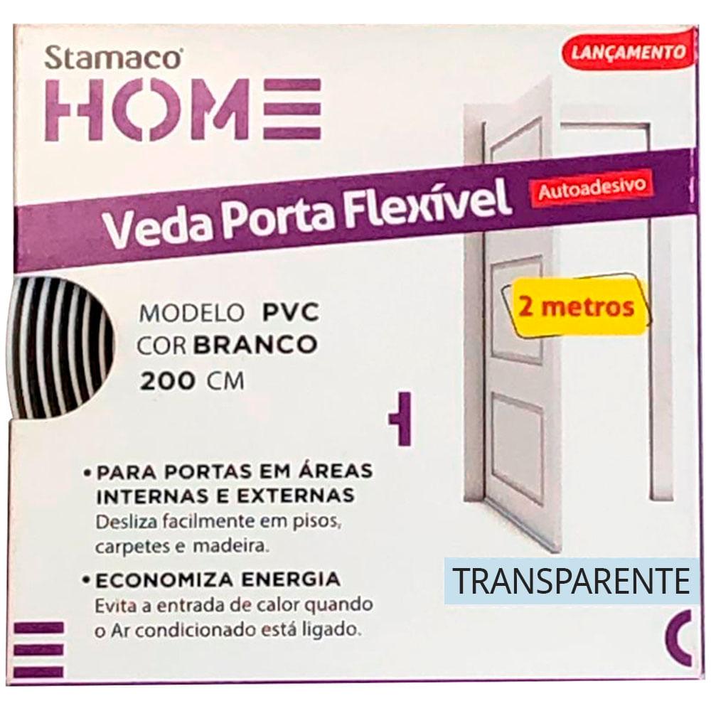 Veda Porta Flexível  Transparente 2 metros Stamaco Home