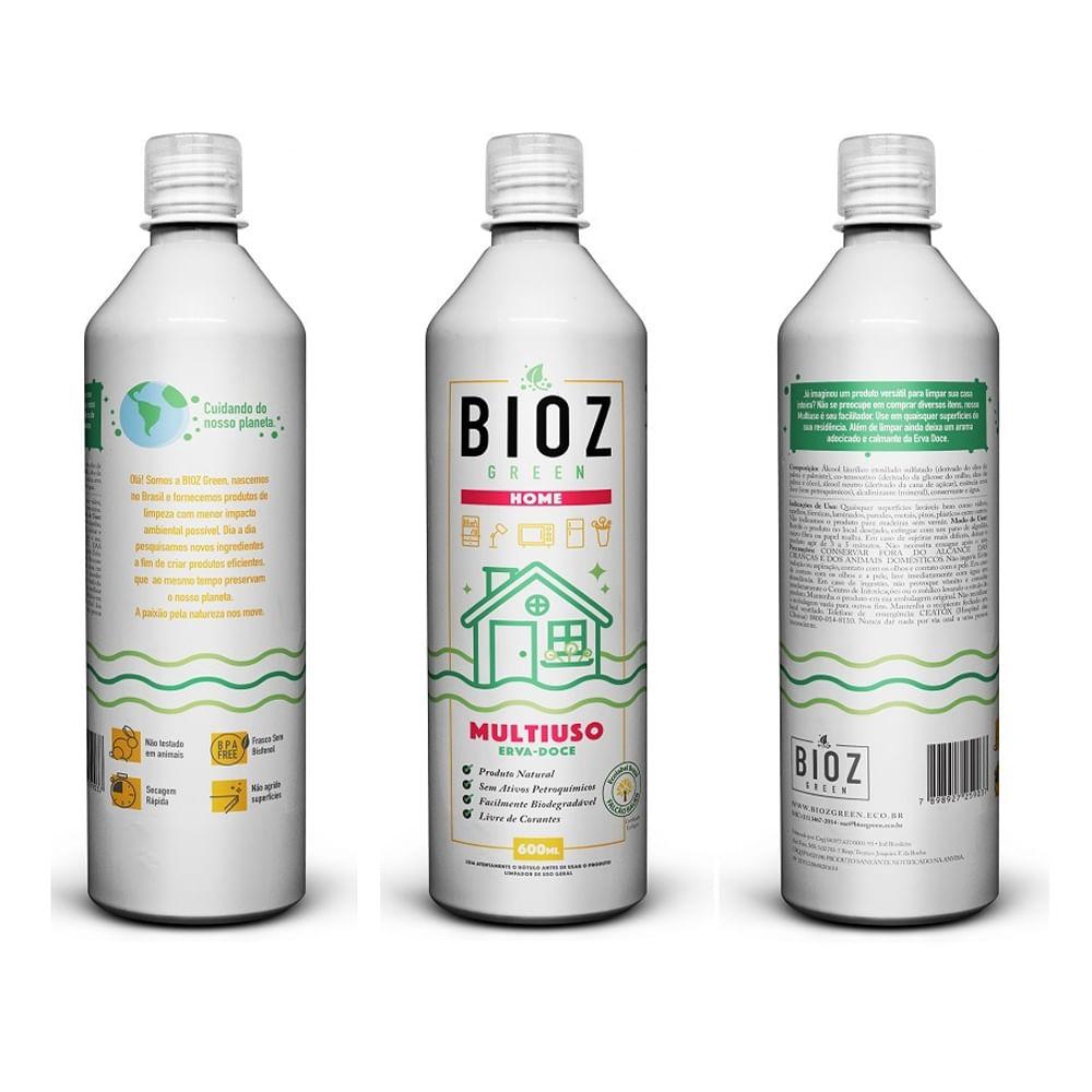 Multiuso Erva Doce 600 ml BIOZ Green com Gatilho
