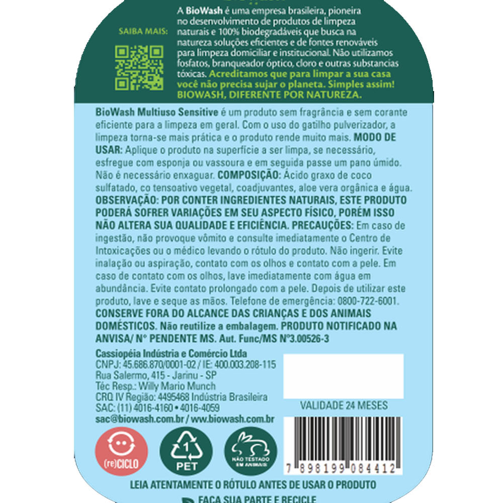 Multiuso Sensitive Biowash 650ml