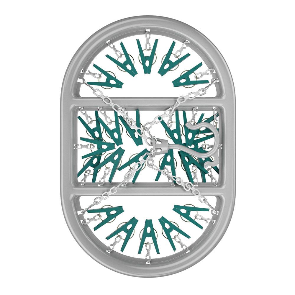 Mini Varal Oval com 24 Prendedores FlashLimp