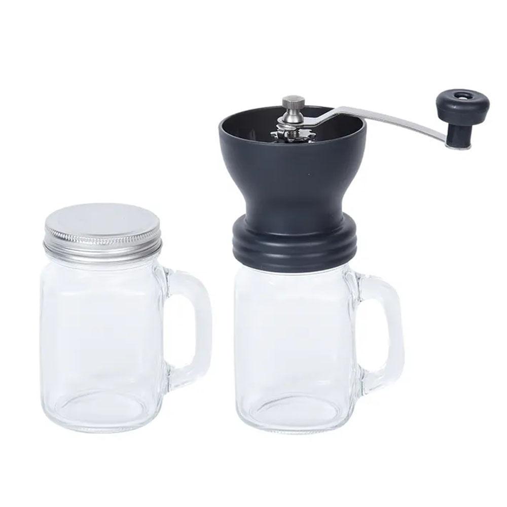 Moedor de Café Manual com Caneca de Vidro 550ml Kenya