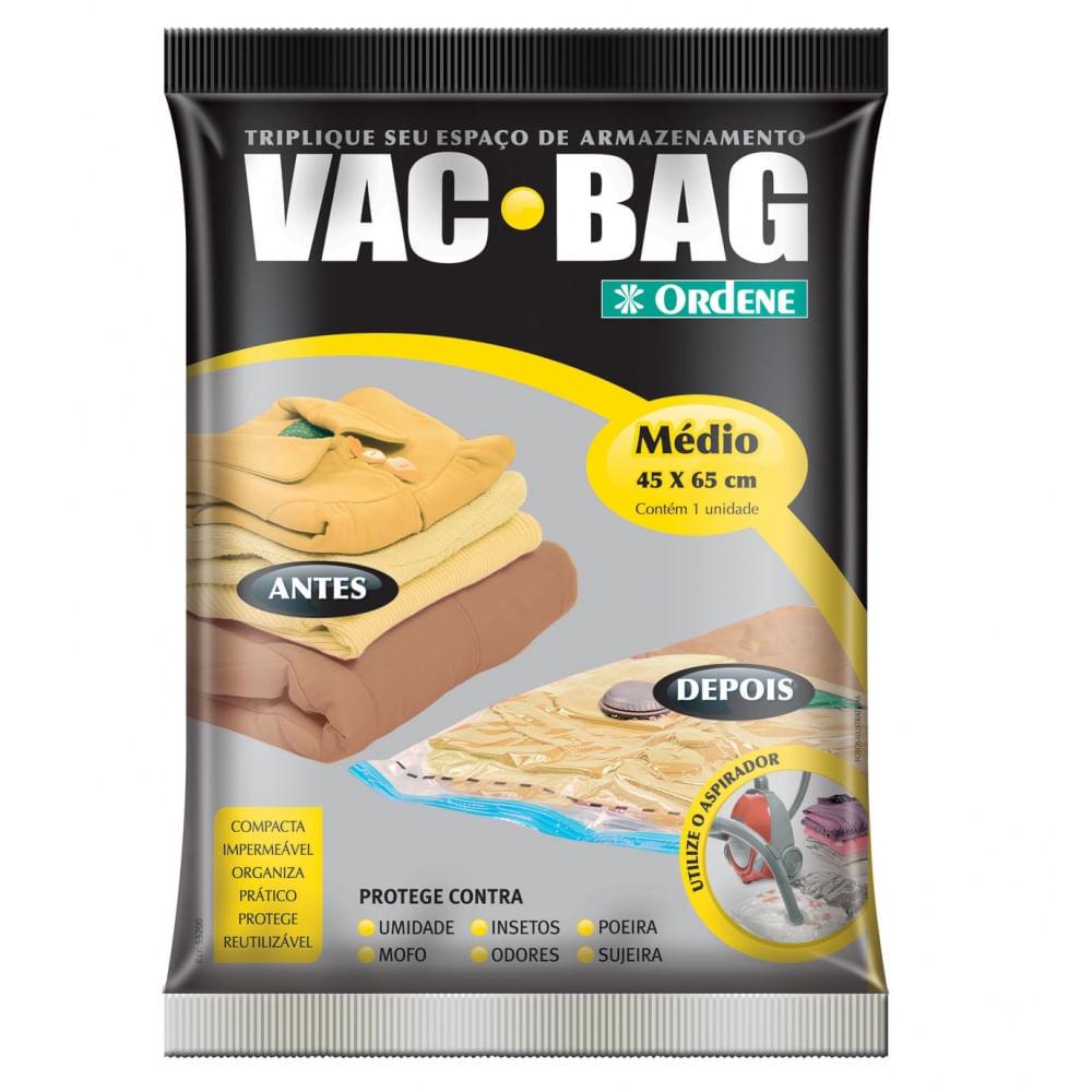 Saco a Vácuo VAC BAG Ordene Médio 45cm x 65cm