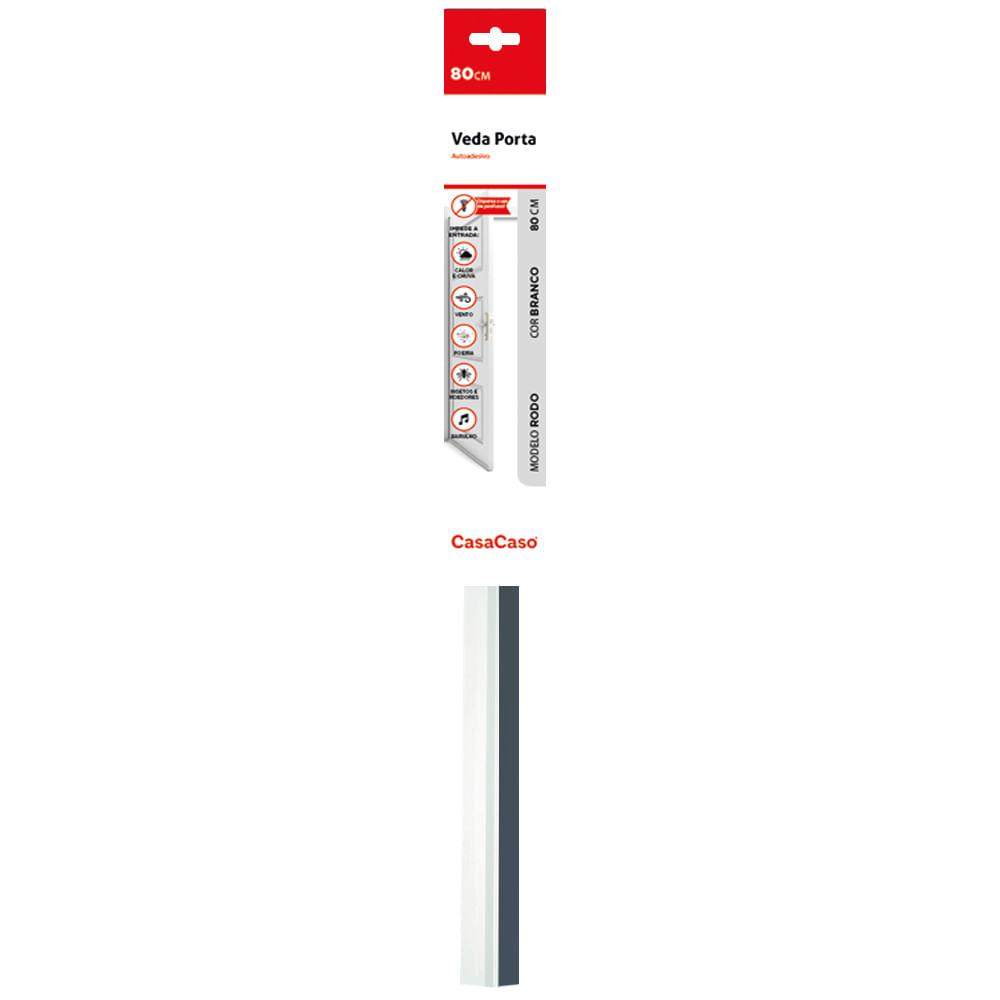 Veda Porta Adesivo - Rodo 80cm Transparente CasaCaso