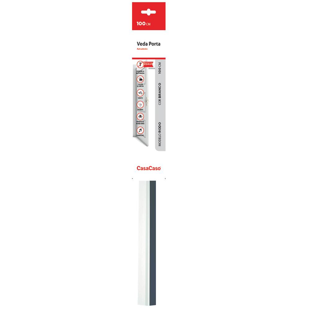 Veda Porta Adesivo - Rodo 100cm Transparente CasaCaso