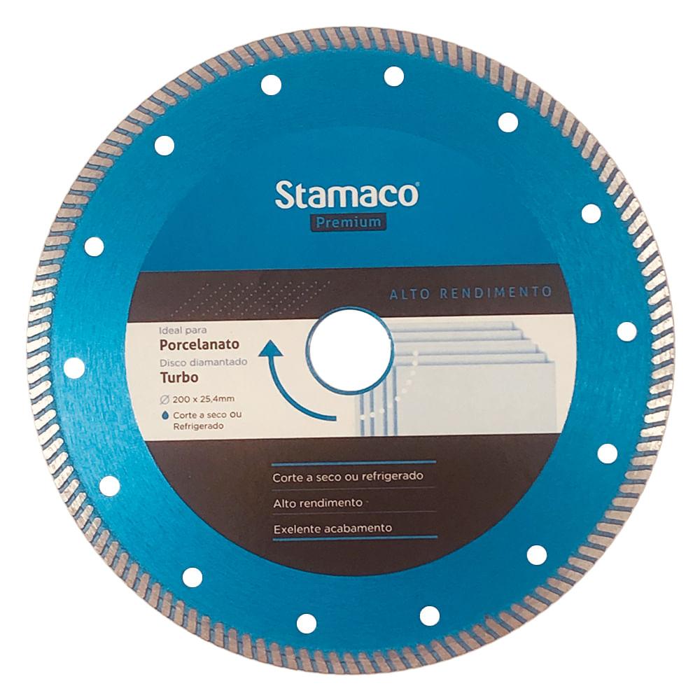 Disco Diamantado Premium Porcelanato 200mm Stamaco
