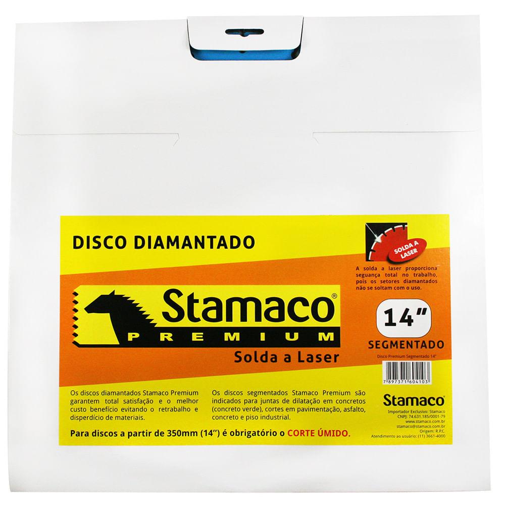 Disco Diamantado Premium Segmentado 350mm Stamaco