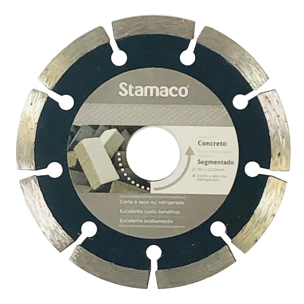 Disco Diamantado Stamaco Segmentado 110mm Esmerilhadeira