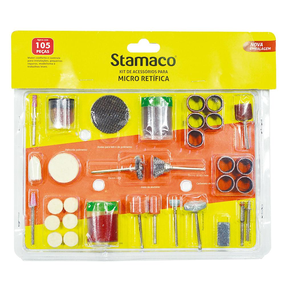 Kit Micro Retífica 105 Peças Stamaco
