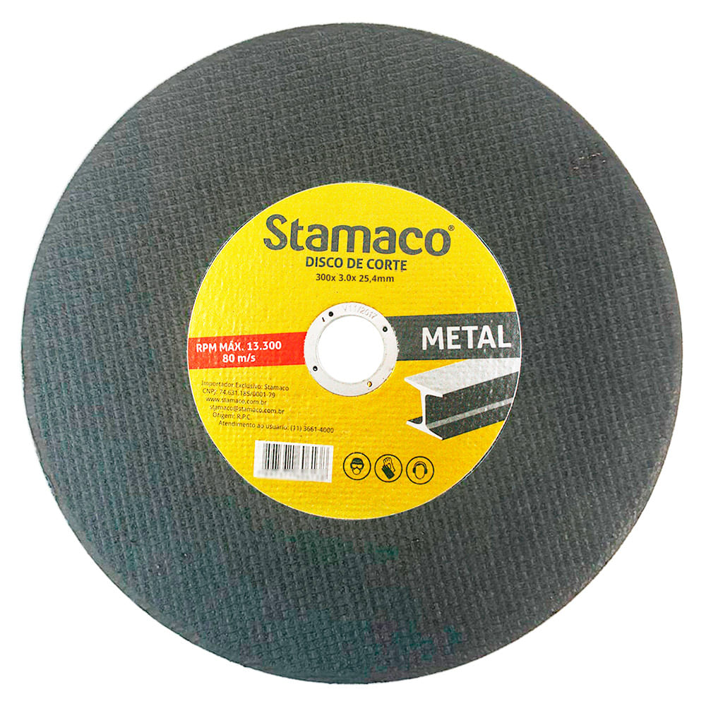 Disco De Corte Metal 300x 3.2x 25,4mm Stamaco