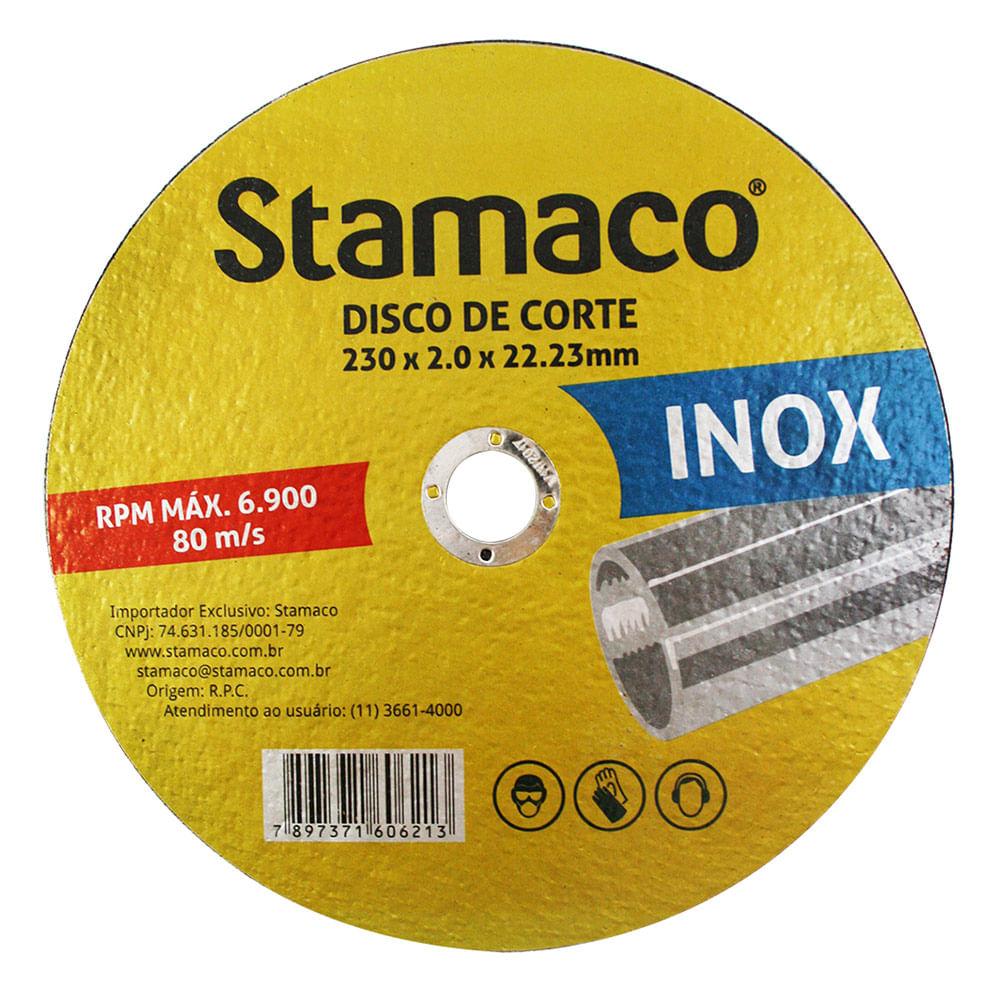 Disco De Corte Inox 230x 2.0x 22,23mm Stamaco