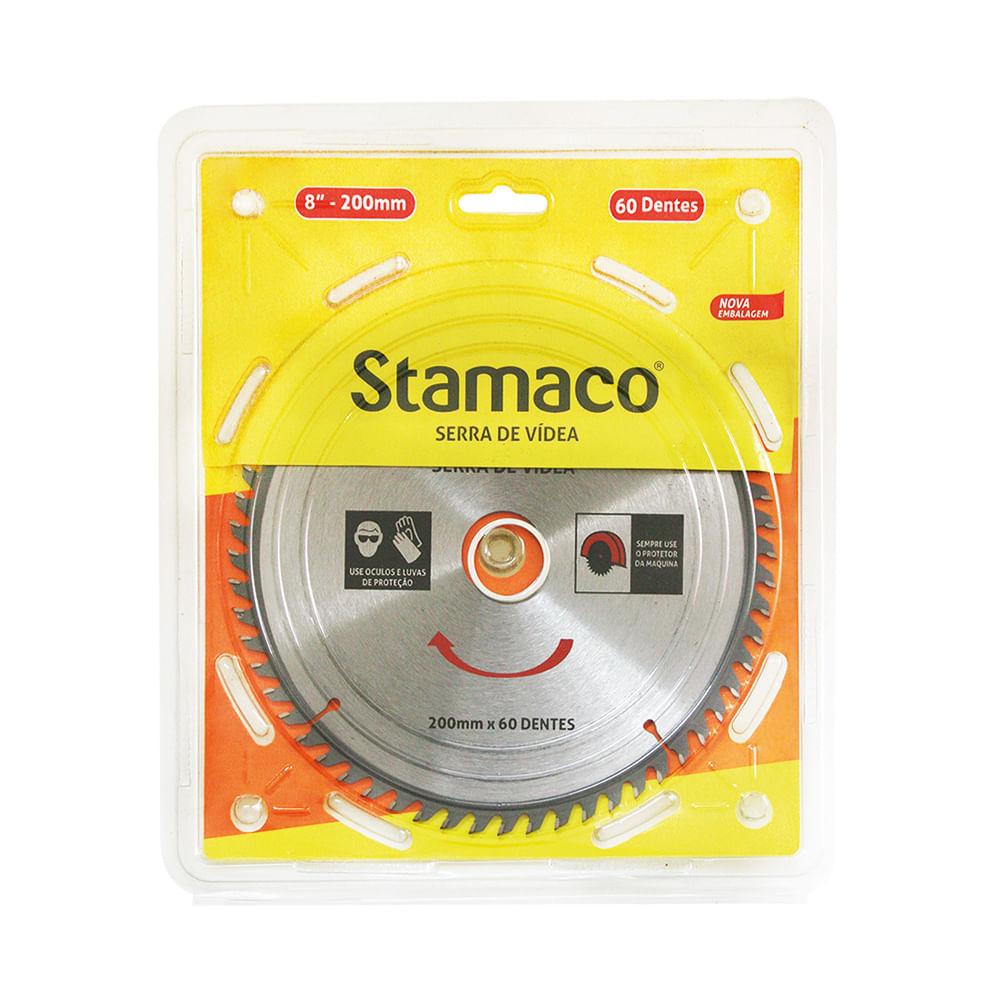 Disco De Serra De Vídea 200mm - 60 Dts Stamaco