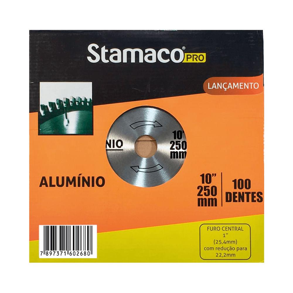 Disco De Serra Para Alumínio e MDF 250mm - 100 Dts Stamaco