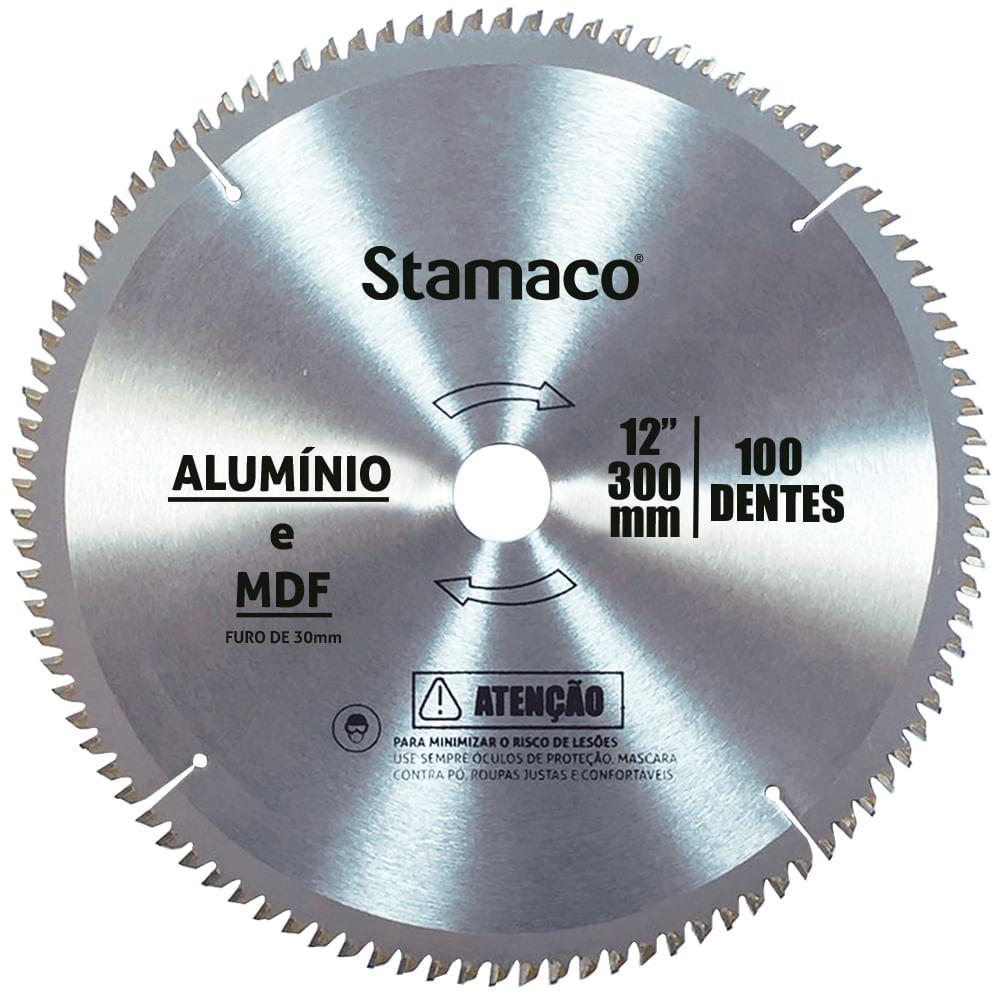 Disco De Serra Para Alumínio e MDF 300mm - 100 Dts Stamaco