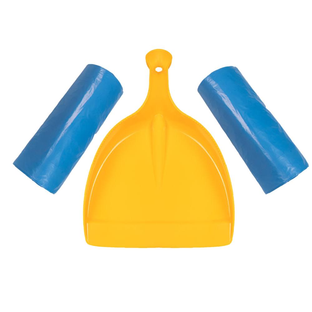 Kit 1 Pá e 2 Rolos de Sacos para Lixo 100L Esfrebom