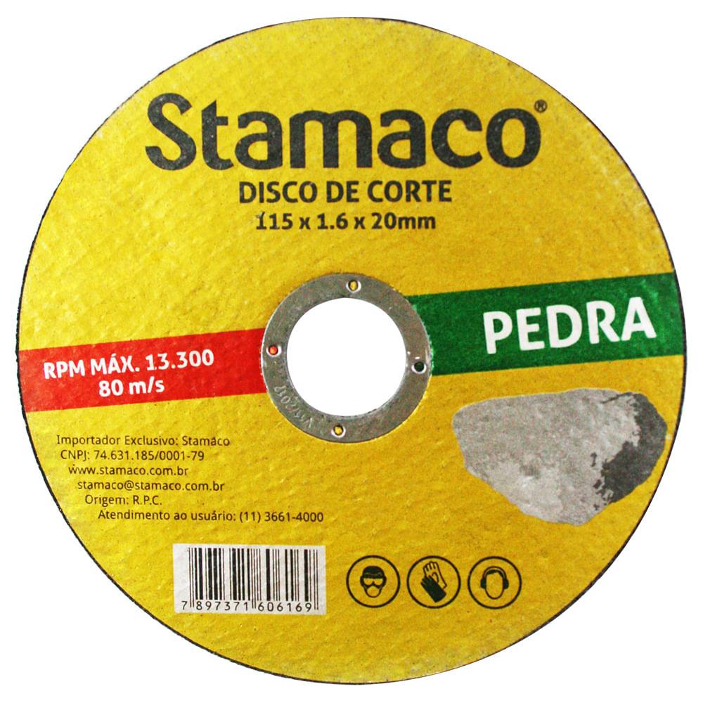 Disco De Corte Pedra 115x 1.6x 20mm Stamaco