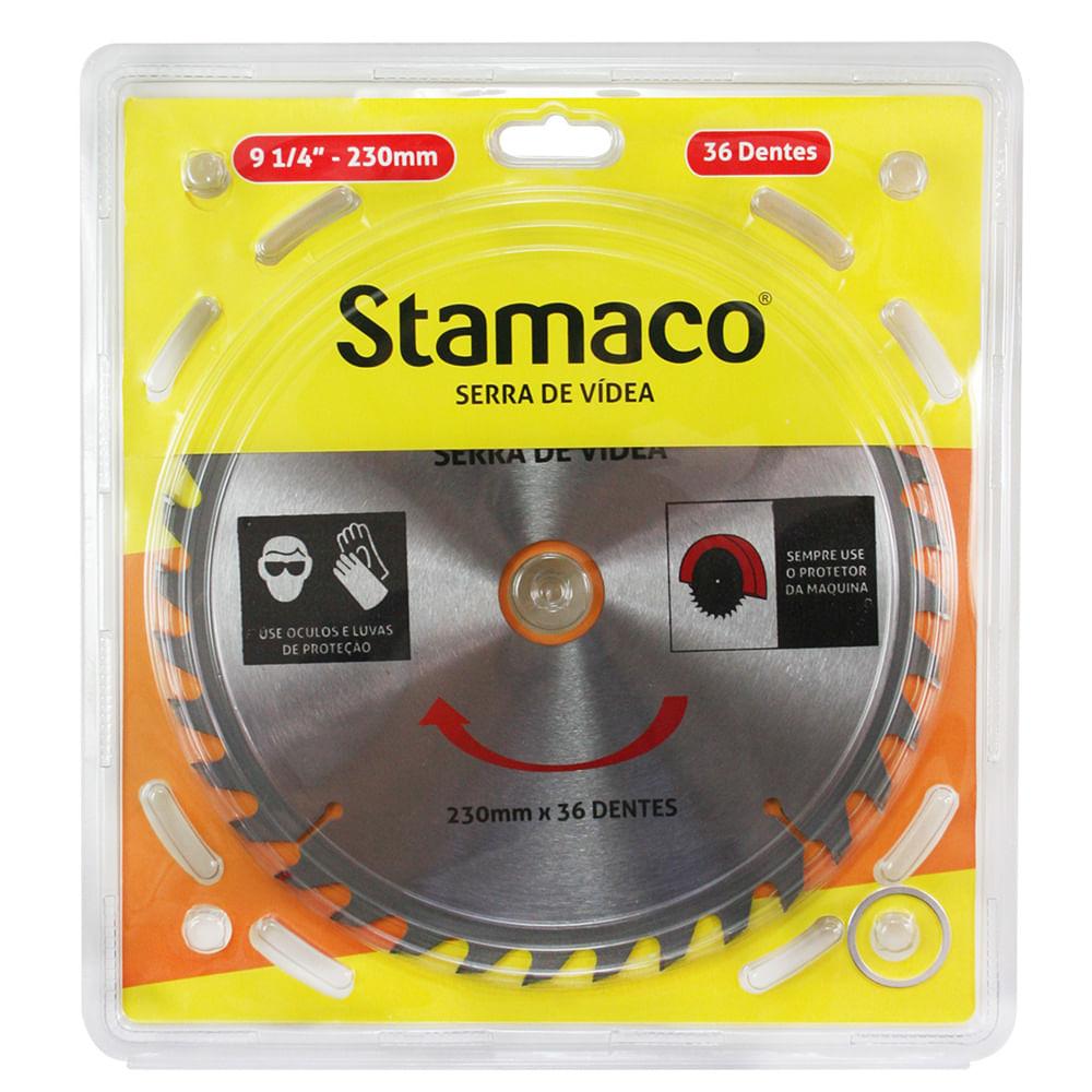 Disco De Serra De Vídea 230mm - 36 Dts Stamaco