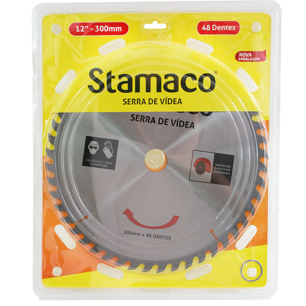 Disco De Serra De Vídea 300mm - 48 Dts Stamaco