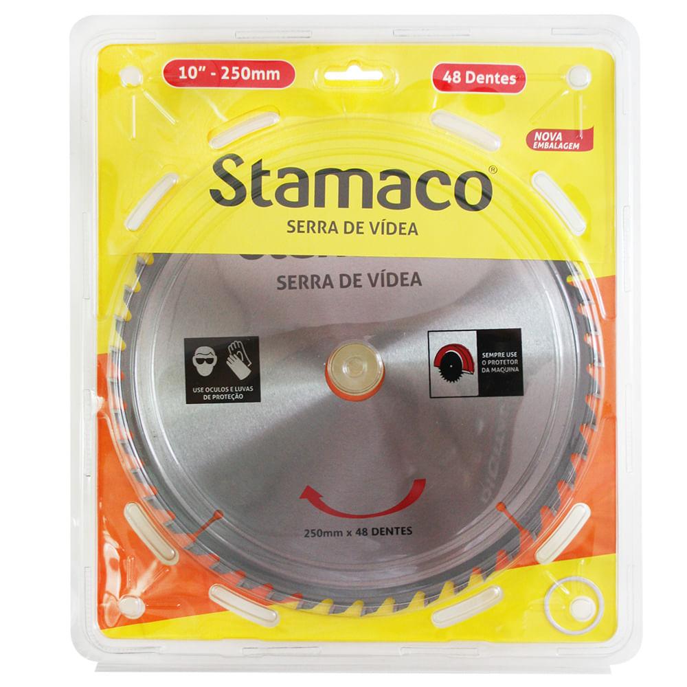 Disco De Serra De Vídea 250mm - 48 Dts Stamaco