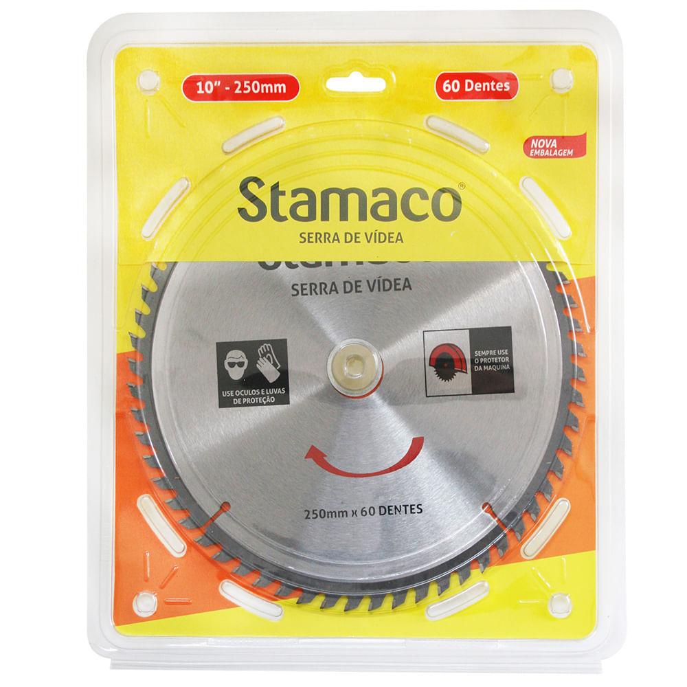 Disco De Serra De Vídea 250mm - 60 Dts Stamaco