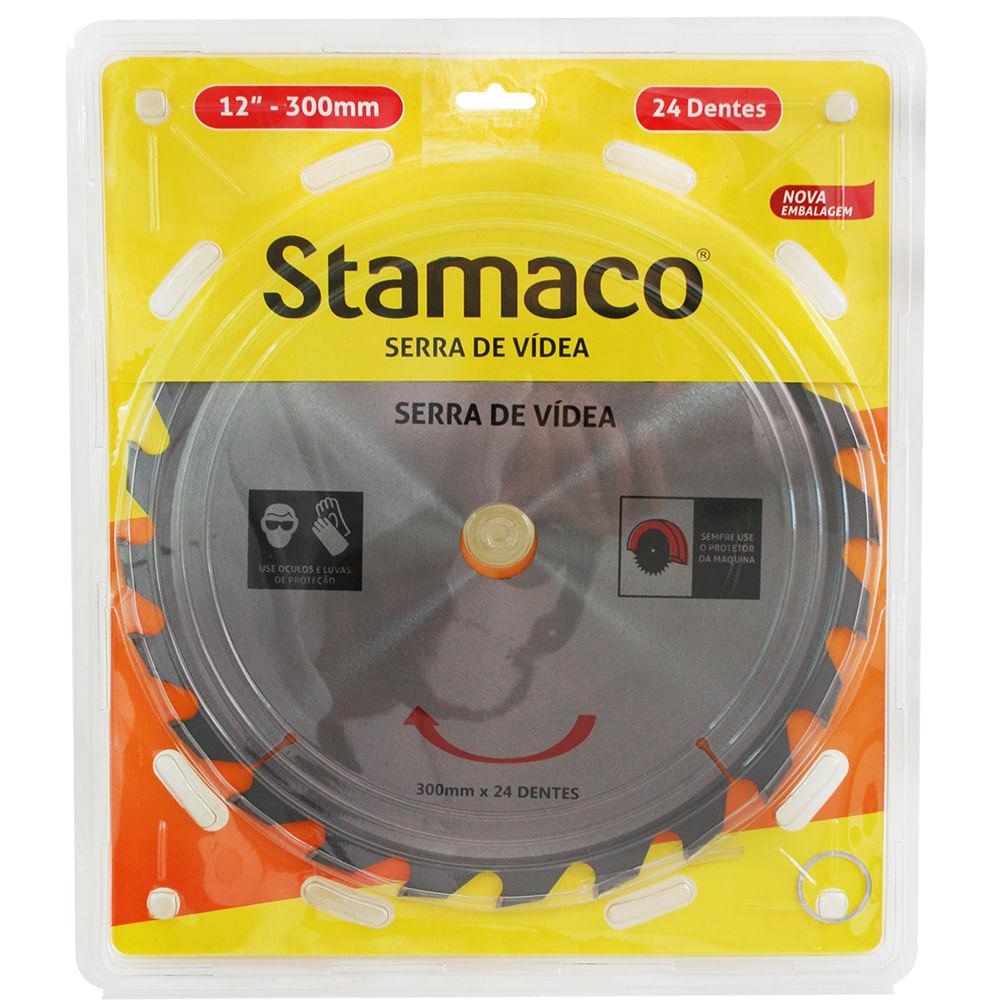 Disco De Serra De Vídea 300mm - 24 Dts Stamaco