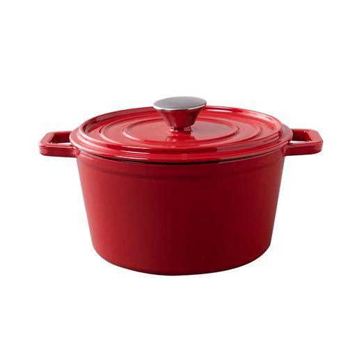 Cacarola-Ferro-Fundido-Esmaltada-20cm-Vermelha
