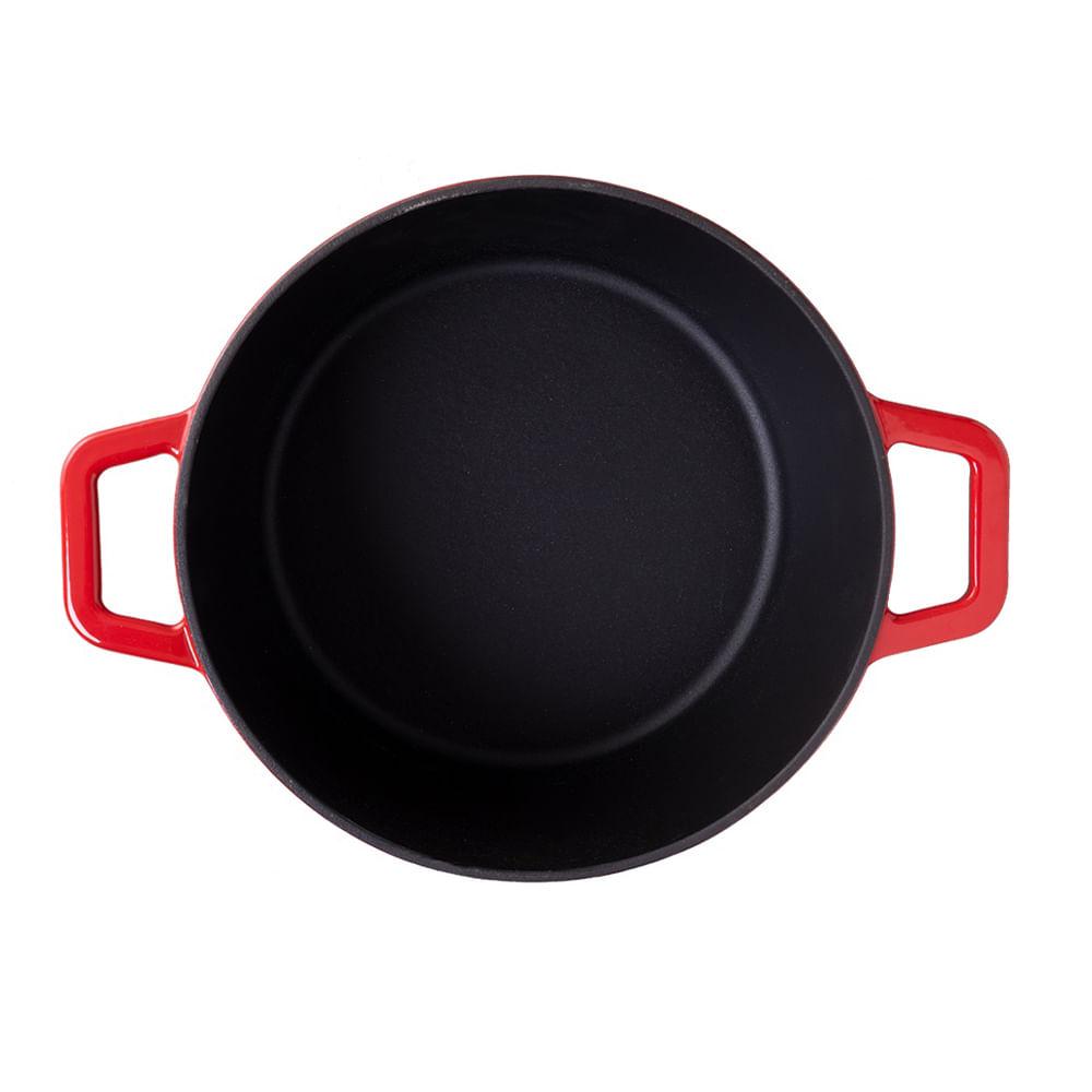 Caçarola de Ferro Fundido 20cm 2,5L Sauté Haus Vermelha
