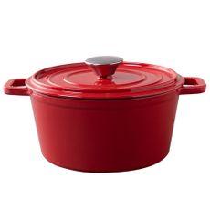 Cacarola-Ferro-Fundido-Esmaltada-26cm-Vermelha