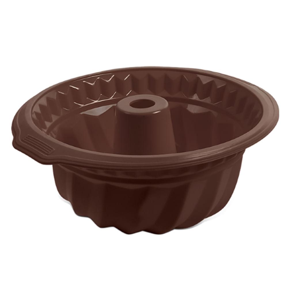 Forma para Bolo em Silicone Glacê Brinox Chocolate