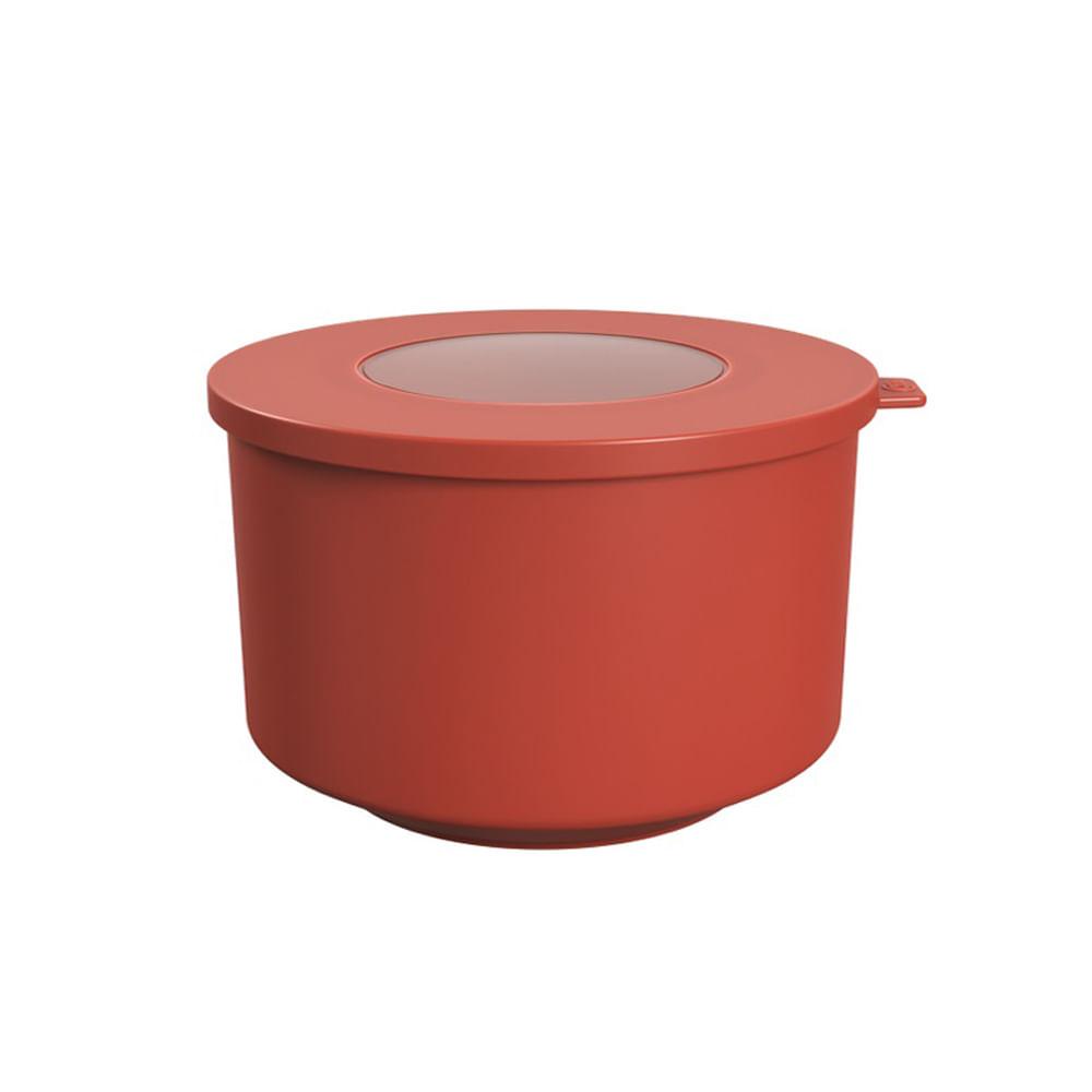 Pote Hoop Coza 1L Vermelho Goiaba