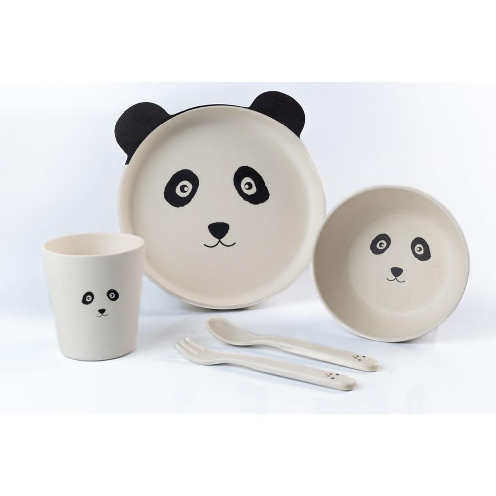 Conjunto de Refeição Infantil Planck 5 Peças Panda