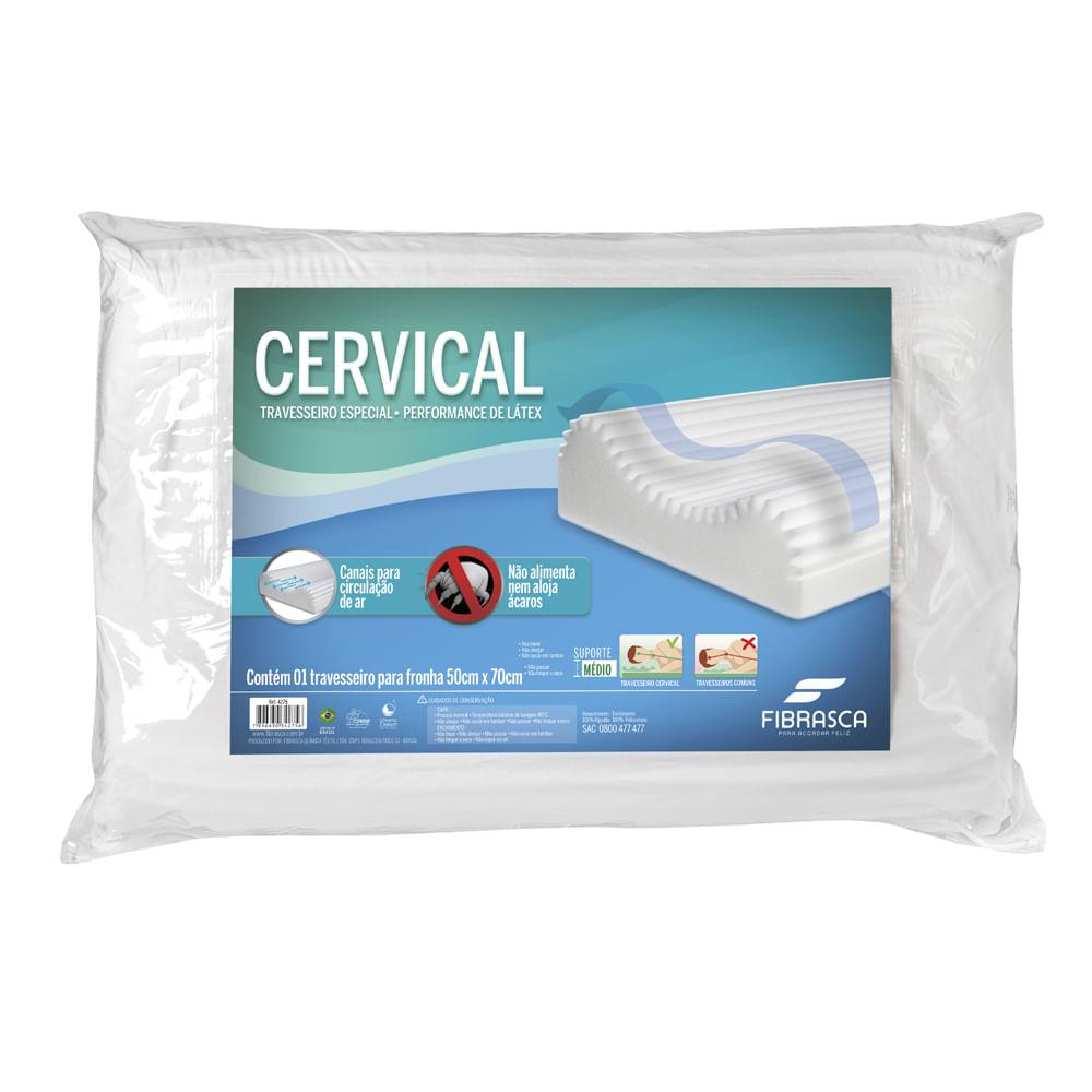Travesseiro Ortopédico Cervical Fibrasca - Para Fronhas 50x70cm