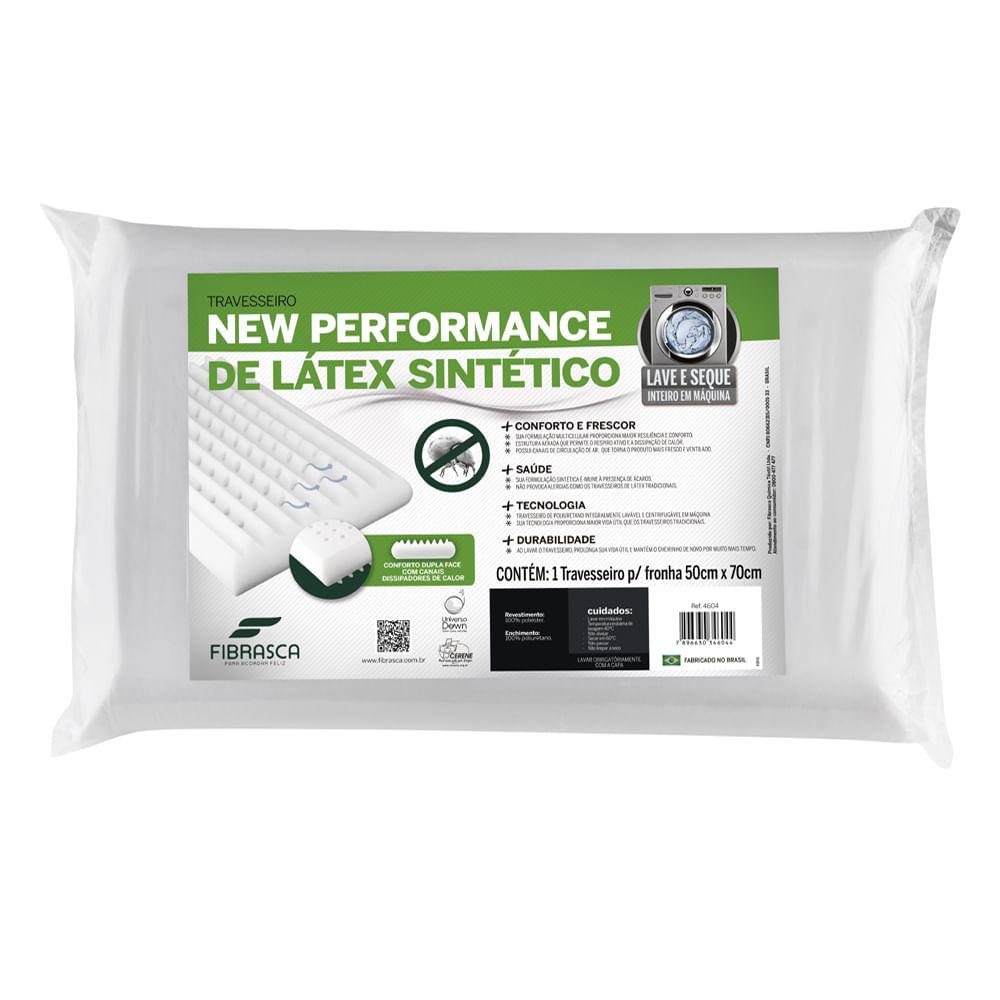 Travesseiro New Performance Látex Lavável Plus Fibrasca