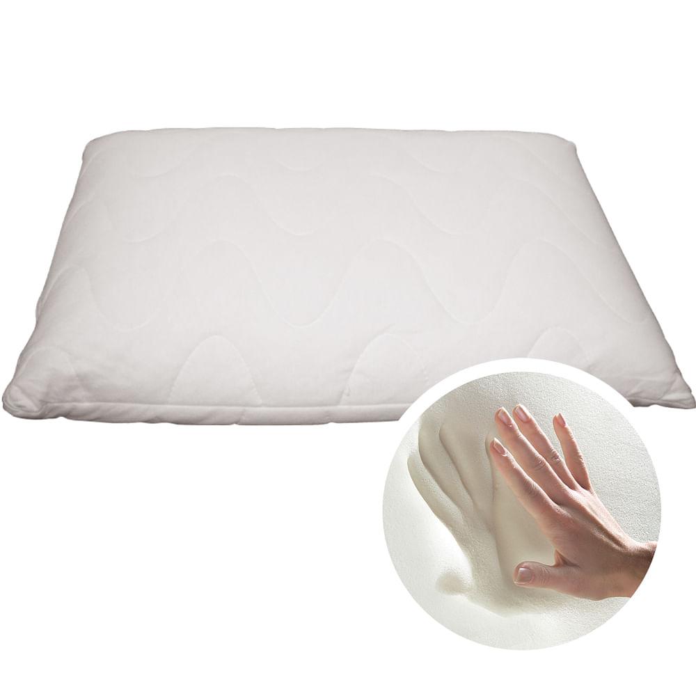 Travesseiro Nasa Kids Viscoelástico Fibrasca - Para Fronhas 50x70cm