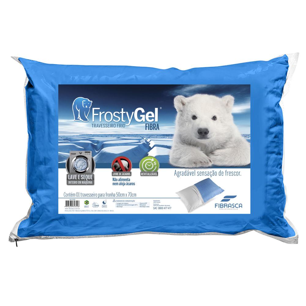 Travesseiro Frio FrostyGel Lavável Fibrasca – Para Fronhas 50x70cm