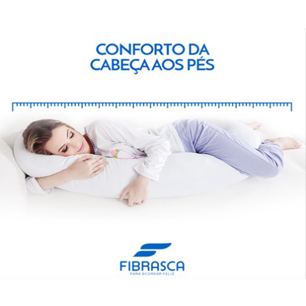 Travesseiro de Corpo Minhocão Fibrasca