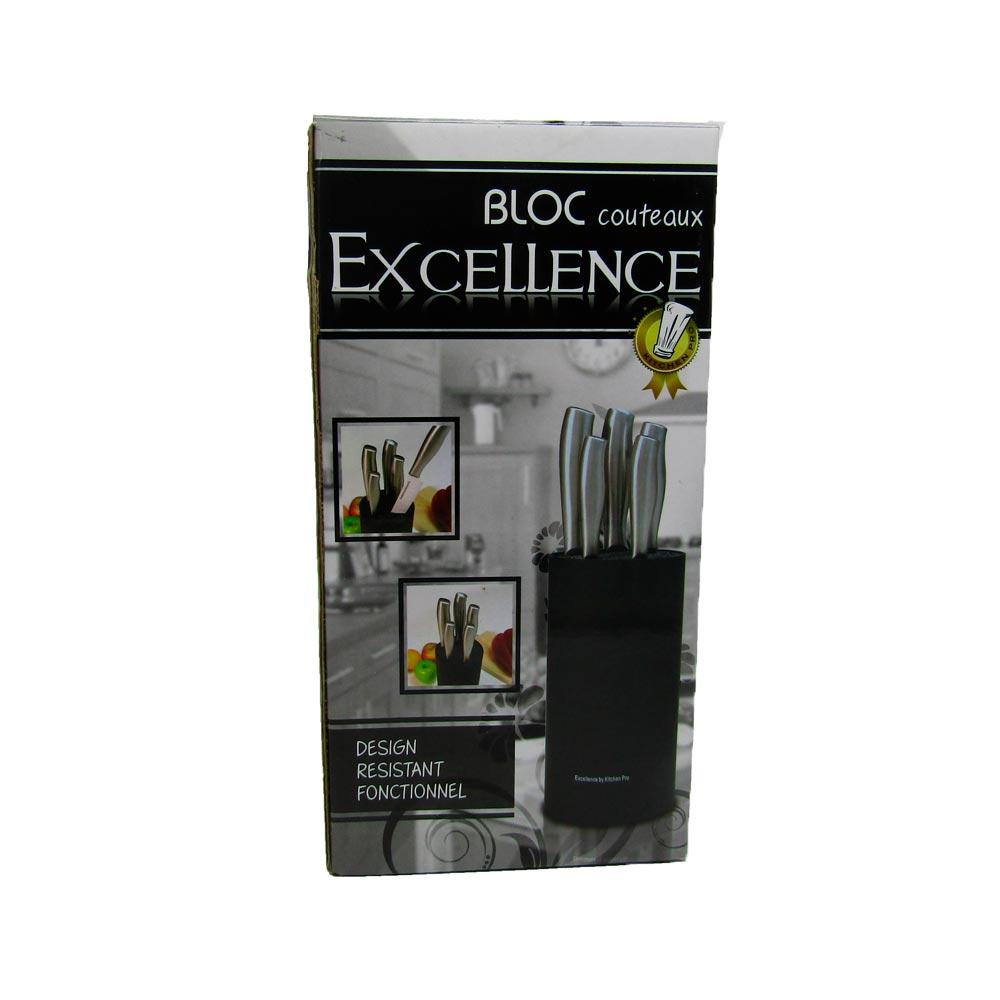 Bloco para Facas de Cerâmica Excellence Kitchen Pro