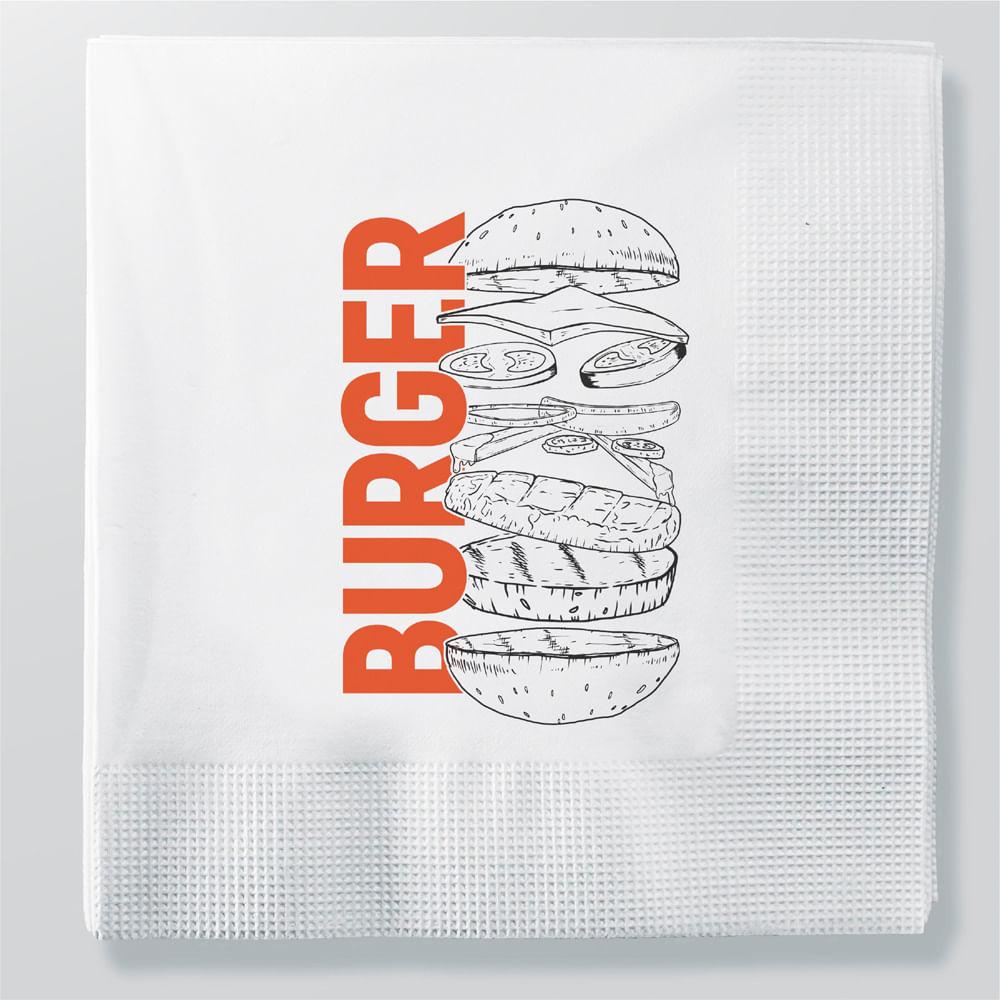 Guardanapo de Papel Decorado Burger 23x24 com 50 Unidades