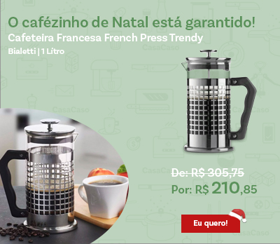 Cafeteira Francesa French Press Bialetti 1 Litro