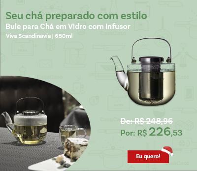 Bule para Chá em Vidro com Infusor
