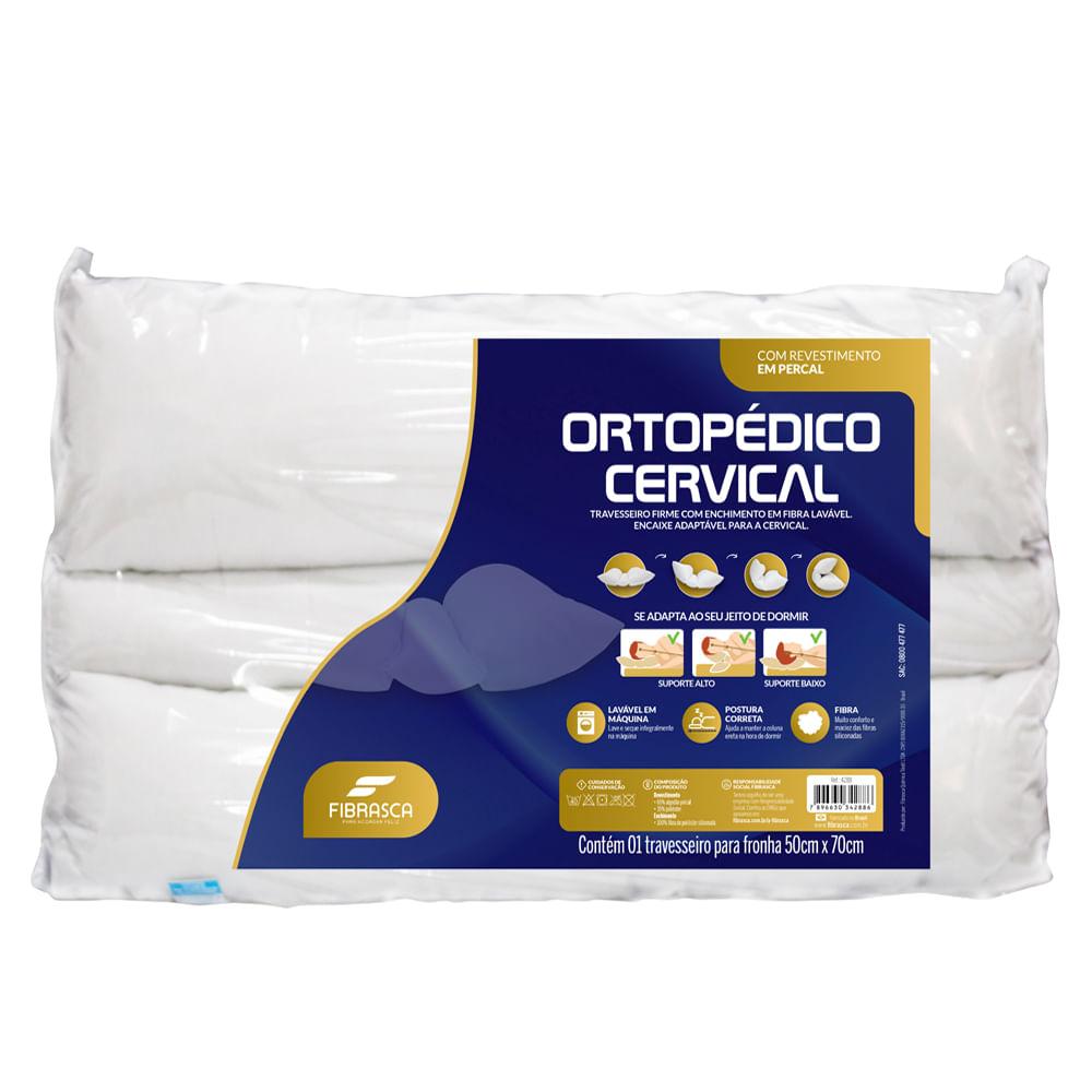 Travesseiro Ortopédico Cervical Fibrasca